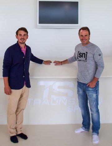 Ernst Hausleitner zu Besuch bei Traunsteinsport
